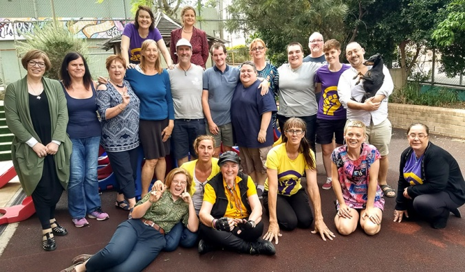 Photo of participants at the second Australian - Aotearoa/New Zealand intersex community advocacy retreat, Erskineville, April 2018.